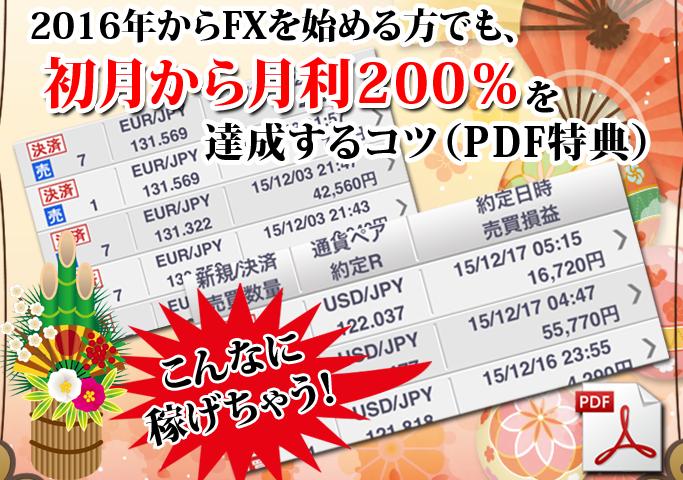 初月から利益200%