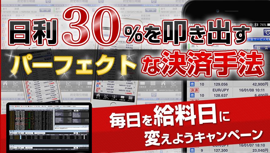 日利30%を叩き出すパーフェクトな決済手法